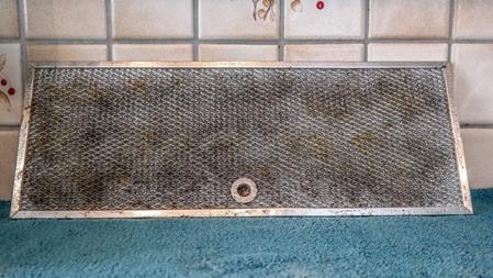 Dreckiger Filter vor der Reinigung durch die Firma VentoClean
